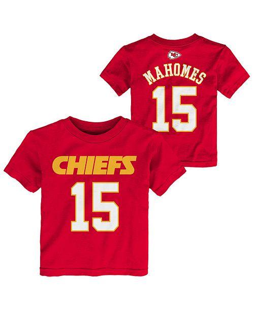f5f47ec4 Pat Mahomes Kansas City Chiefs Mainliner Player T-Shirt, Toddler Boys  (2T-4T)
