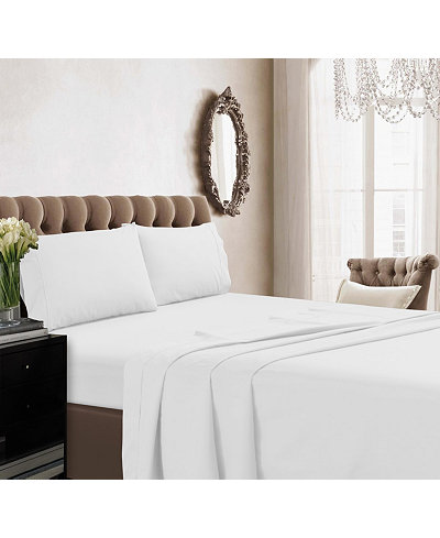 Tribeca Living 350 Thread Count Cotton Percale Extra Deep Pocket