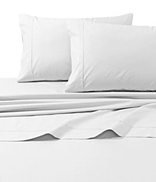 Tribeca Living 300 Thread Count Cotton Percale Extra Deep Pocket Queen Sheet Set