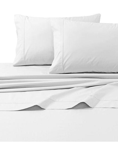Tribeca Living 300 Thread Count Cotton Percale Extra Deep Pocket Queen Sheet Set