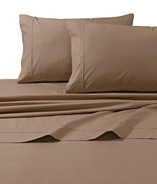 Tribeca Living 300 Thread Count Cotton Percale Extra Deep Pocket Full Sheet Set