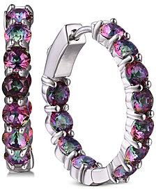 Tiara Cubic Zirconia In & Out Large Hoop Earrings