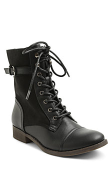 XOXO Carissa Lace Up Combat Booties