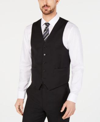 Men's Classic-Fit UltraFlex Stretch Black Suit Vest