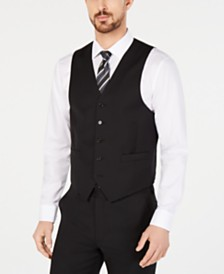 Lauren Ralph Lauren Men's Classic-Fit UltraFlex Stretch Black Suit Vest