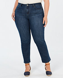 Style & Co Plus Size Cotton Boyfriend Jeans, Created for Macy's