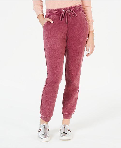 Juniors' Mineral Wash Sweatpants, Created for Macy's