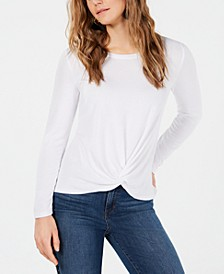 Petite Twist-Front Draped Top