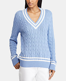 Lauren Ralph Lauren Petite Cotton Cricket Sweater