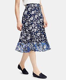 Lauren Ralph Lauren Petite Floral-Print Georgette Skirt