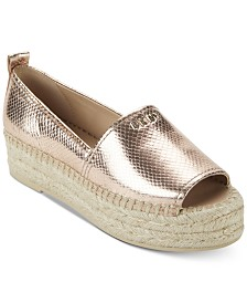 DKNY Mer Peep-Toe Espadrille Sandals,Created for Macy's