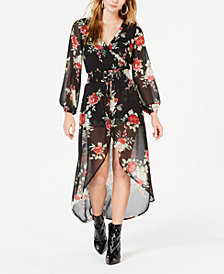 Material Girl Juniors' Floral Walk-Through Dress, Created for Macy's