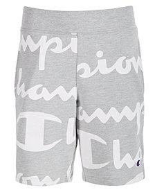 Champion Little Boys Script-Print Shorts