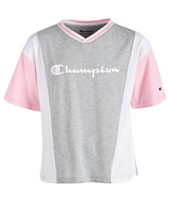 faf4ab71dfb5 Champion Little Girls Colorblocked Logo-Print T-Shirt