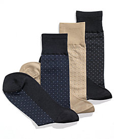Perry Ellis Men's Socks, Pin Dot Men's Socks