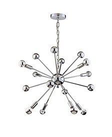Glenn 8-Light Metal Sputnik-Led Chandelier