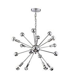 JONATHAN Y Glenn 8-Light Metal Sputnik-Led Chandelier