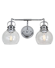 Shirley 2-Light Metal, Bubbled Glass Vanity Light