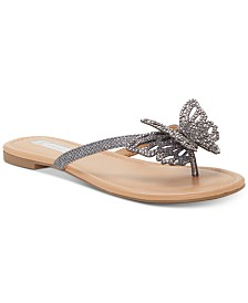 I.N.C. Women's Marsha Butterfly Flip-Flop Sandals, Created for Macy's