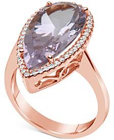 Amethyst (7 ct. t.w.) & Diamond (1/4 ct. t.w.) Ring in 14k Rose Gold