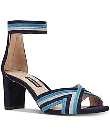 Nine West Pearl Woven Block-Heel Sandals