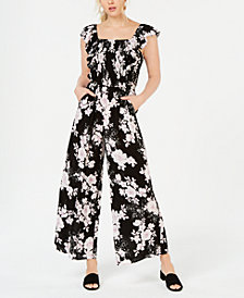 American Rag Juniors' Ruffle-Sleeve Jumpsuit, Created for Macy's
