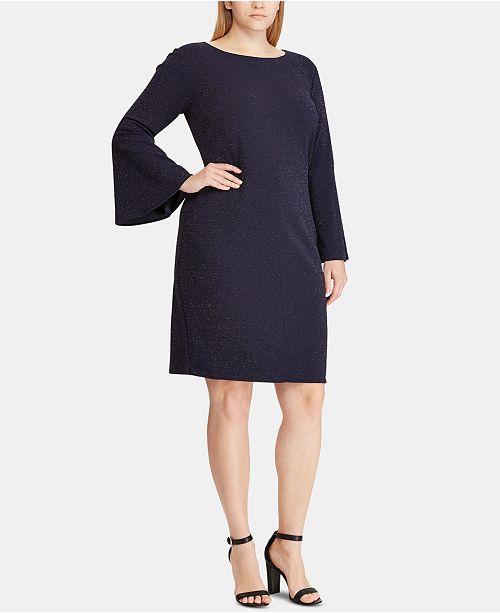 Lauren Ralph Lauren Plus Size Metallic Ponté-Knit Shift Dress