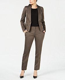 Le Suit One-Button Shawl-Lapel Pantsuit