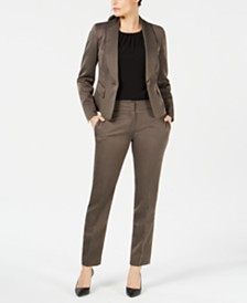 Le Suit One-Button Shawl-Lapel Pantsuit