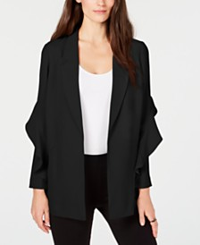 Alfani Flounce Sleeve Jacket, Created for Macy's