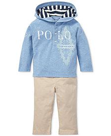 Polo Ralph Lauren Baby Boys Mesh Hoodie & Twill Pants Set
