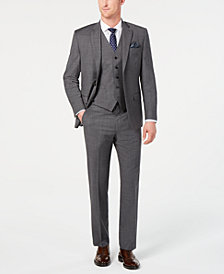 Lauren Ralph Lauren Men's Classic-Fit UltraFlex Stretch Gray Sharkskin Suit Separates