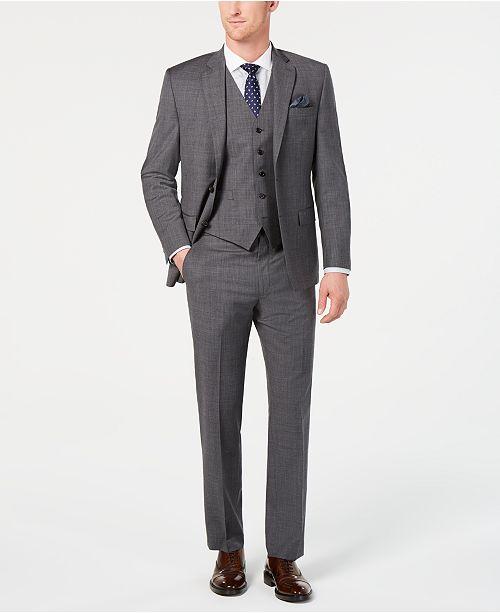 Lauren Ralph Lauren Men's Classic-Fit UltraFlex Stretch Gray Sharkskin Suit Separates