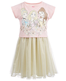 Disney Little Girls Layered-Look Princesses Dress