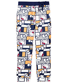 Hello Kitty Little Girls Printed Jogger Pants