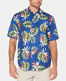Cubavera Men's Pineapple-Print Short-Sleeve Linen Shirt