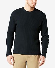 Dockers Men's Waffle-Knit Long-Sleeve T-Shirt