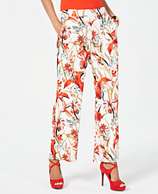 Thalia Sodi Printed Pull-On Pants, Created for Macy's