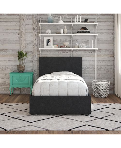 Novogratz Collection Kelly Upholstered Twin Bed With Storage