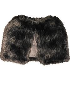 Long Hair Faux Fur Capelet