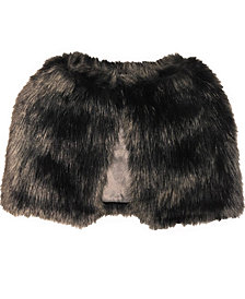 Laundry by Shelli Segal Long Hair Faux Fur Capelet