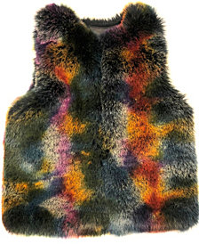 Laundry by Shelli Segal Multi Colorful Faux Fur Vest