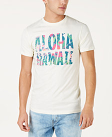Aloha Hawaii Men's Floral Graphic T-Shirt