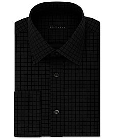 Sean John Men's Classic/Regular-Fit Check French Cuff Dress Shirt