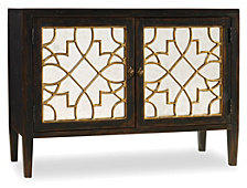Sanctuary Two Door Mirrored Console- Ebony