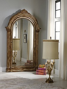Melange Vera Floor Mirror with Jewelry Armoire Storage