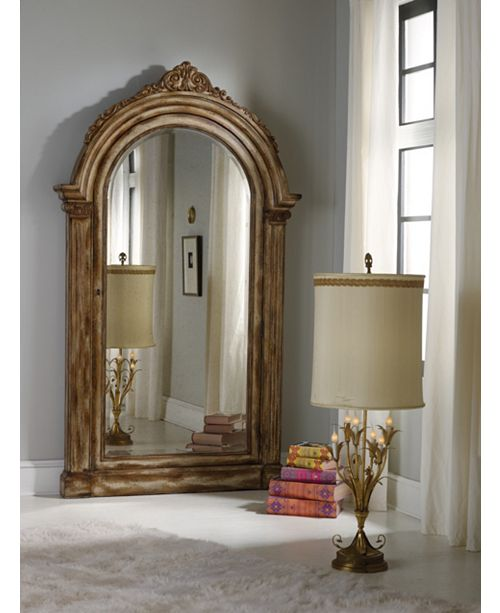 Hooker Furniture Melange Vera Floor Mirror with Jewelry Armoire Storage