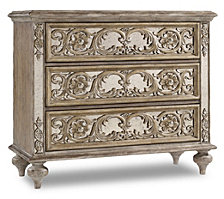 Pearl Ornate Mirrored Chest