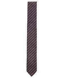 BOSS Men's Diagonal-Striped Silk Tie