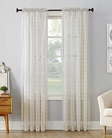 "Lichtenberg No. 918 Miller Geometric Sheer Rod Pocket Curtain Panel, 59"" W x 84"" L"